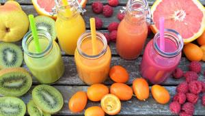 Fruta e o suco